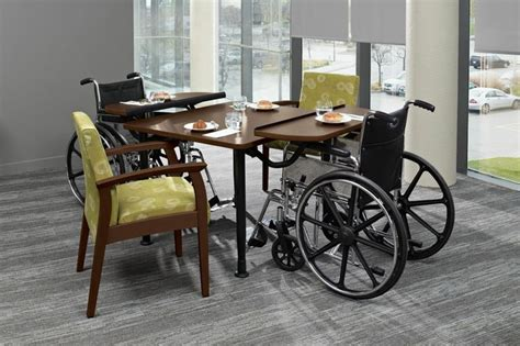 nursing home dining tables the tablet table is a unique nursing home furniture