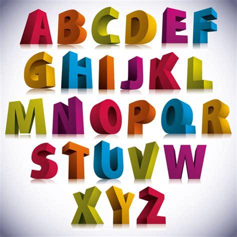 Free Poster Maker Software 3d colorful alphabets vector design vector font free