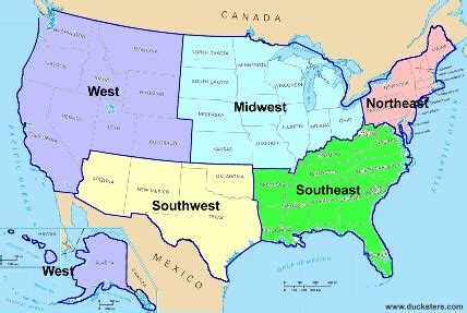 us map divided south east west united states geography regions