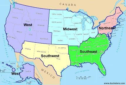 united states geography: regions