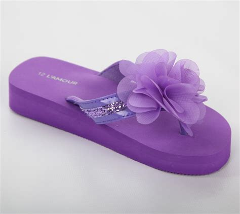 Flower Flip l amour adorable flower flip flop sandals in purple with and without b bunnies picnic