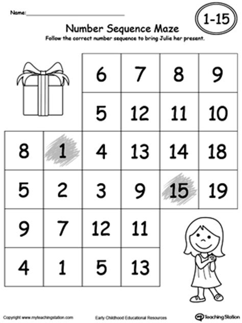 sequence numbers 1 10 printable practice number sequence with number maze 1 15 part 2
