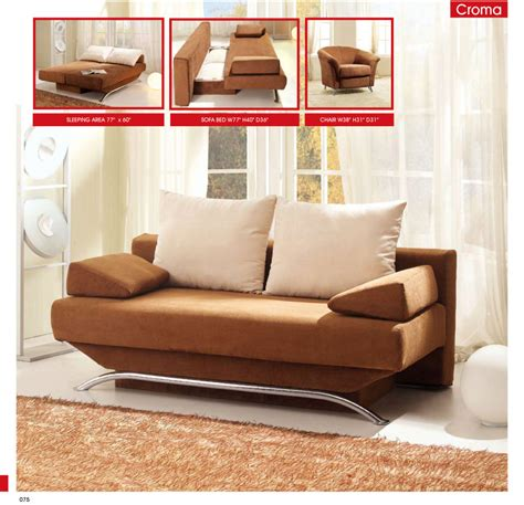living room sofa bed croma brown fabric sofa bed by esf