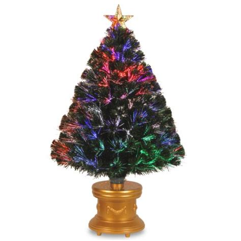 national tree 36 inch fiber optic quot evergreen quot firework