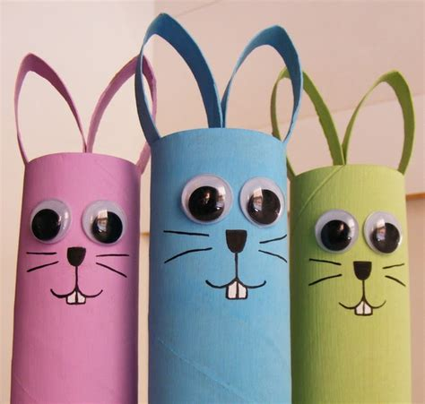 Toilet Paper Easter Bunny Craft - preschool crafts for easter bunny toilet roll craft
