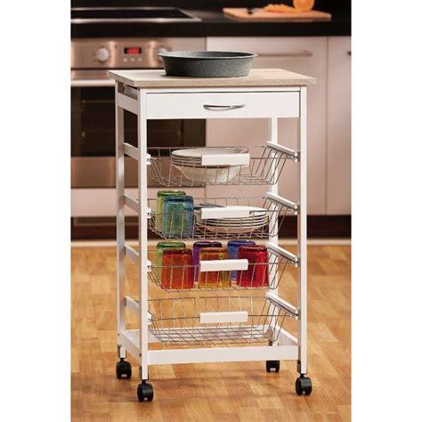 carrello cucina bianco carrello cucina bianco legno 50 cm cassetti ruote