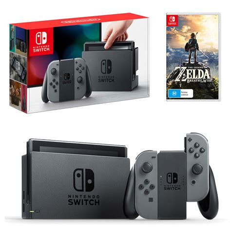 Nintendo Switch Gray The Legend Of Breath Of The nintendo switch grey con console with the legend of