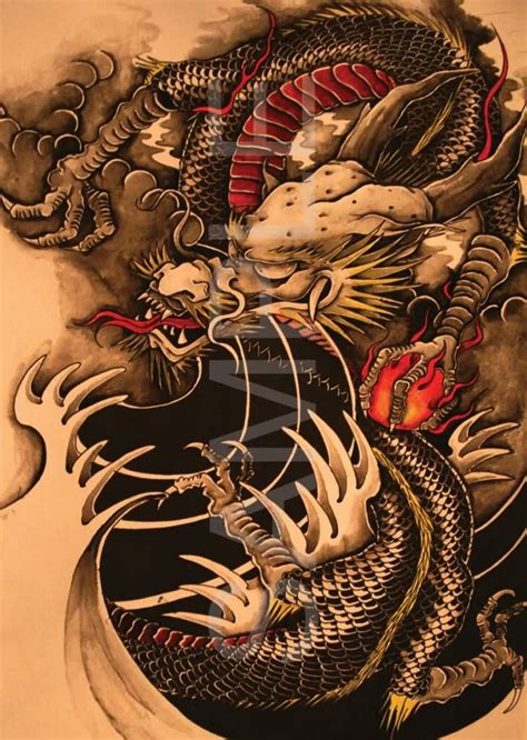traditional dragon tattoo designs wonderful traditional design