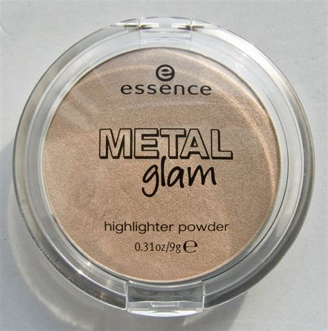 Essence Highlighter 1 warpaint and unicorns essence metal glam highlighter powder in 01 gold digger swatches review