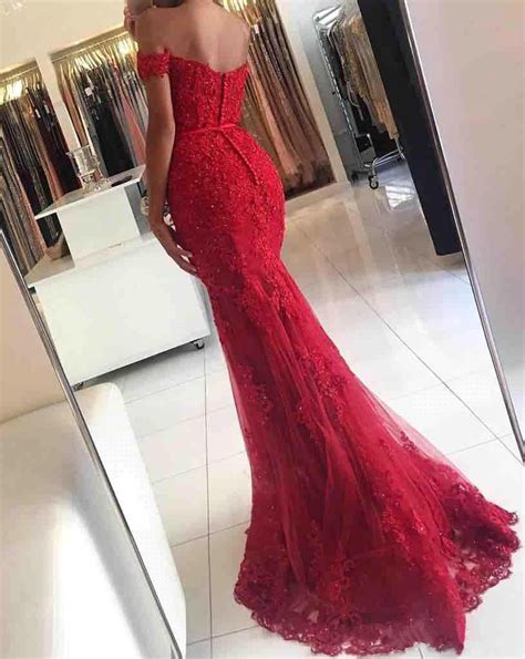 Prom Wedding Dresses Uk by 2018 Appliques The Shoulder Lace Glamorous Mermaid