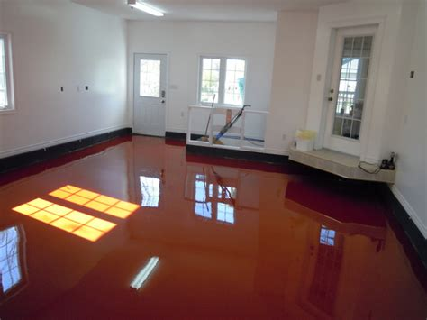 red floor paint red garage floor concretelocator com decorative