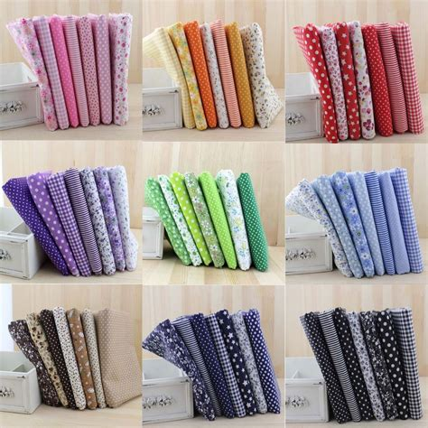 Quilting Material Wholesale by Wholesale 7 Pcs Pre Cut Plain Cotton Quilt Cloth Fabric