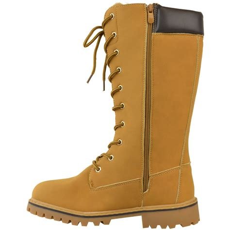 timbs shoes womens knee high army combat winter boots timbs