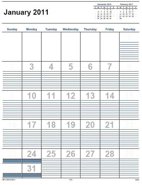free printable monthlyappointment calendars calendar