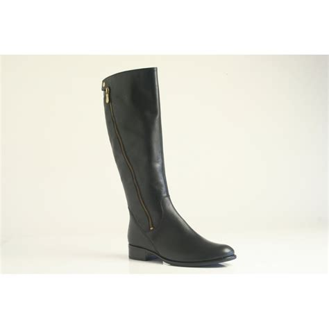 Boots M C Black gabor gabor style quot dawson m quot black leather boot with angled zip trim and press stud gabor