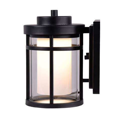 home depot outdoor lighting white home decorators collection black outdoor led small wall