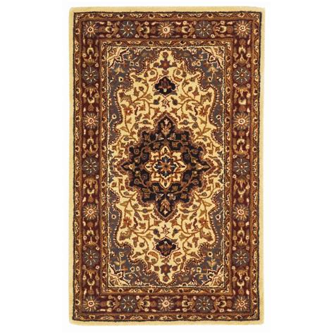 4 x 6 area rug safavieh heritage ivory 4 ft x 6 ft area rug hg760a 4 the home depot