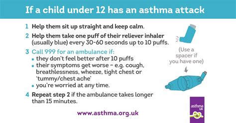 asthma attack if your child has an asthma attack asthma uk