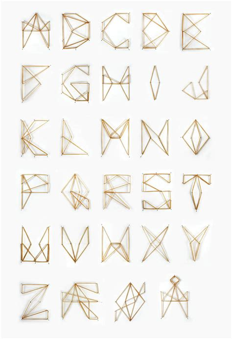 String Alphabet - elastic font colossal