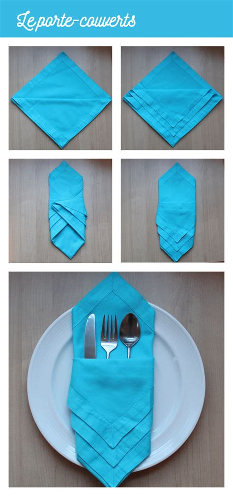 Pliage Serviette Pour Couvert by Origami Serviette Porte Couverts Galerie Et Pliage De