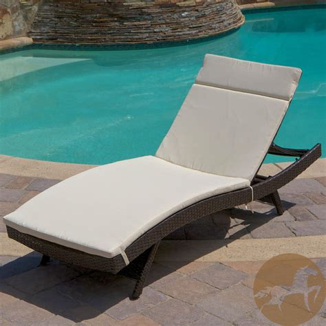 Adjustable Chaise Lounge Indoor Christopher Home Outdoor Brown Wicker Adjustable Chaise Lounge With Cushi Contemporary