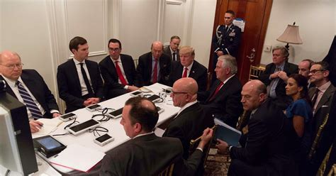 situation room white house photo reveals inside view of mar a lago situation room during syria strike