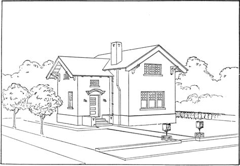 drawings of houses ruled outline of house clipart etc