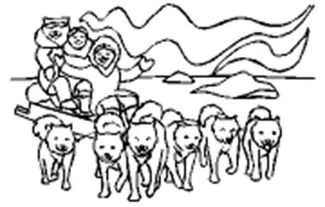dog team coloring page pictures of sled dogs coloring pages