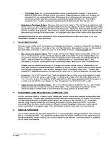purchasing policies and procedures template purchasing and payment policy and procedures free