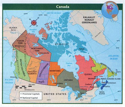 political map of canada detailed political and administrative map of canada with major cities vidiani maps of