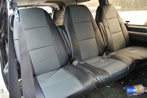ford e350 seat covers ford e 250 350 club wagon iggee s leather custom fit seat