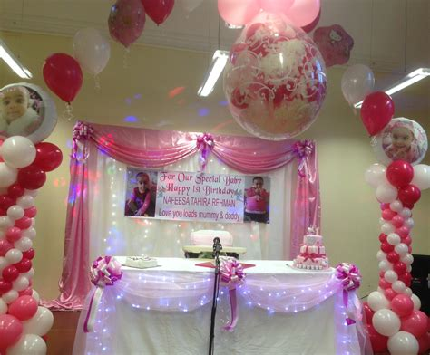 home decoration for 1st birthday balloons chair cover hire enchanted weddings events