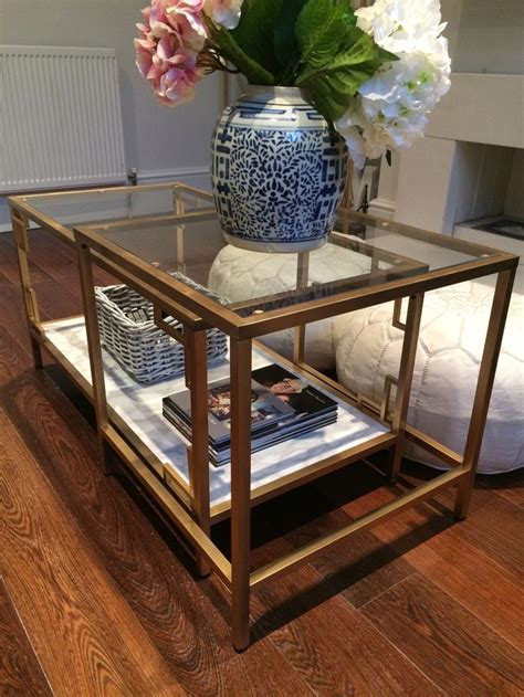 Coffee Table Hack Horchow Inspired Ikea Hack Vittsjo Gold And Faux Marble Coffee Table On Www Lingyeungb Let
