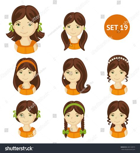 Haircut Special For Children With Various Motifs illustrations various hair stock vector