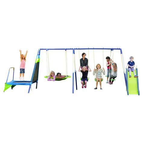 8 swing set compare sportspower 8 metal swing set