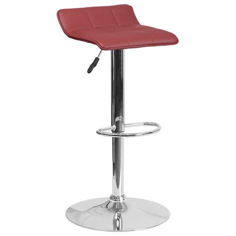 reclining bar stools flash furniture adjustable height gray cushioned bar stool