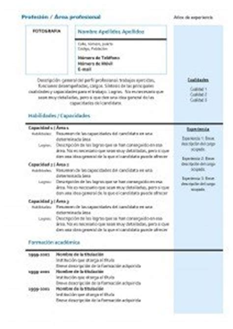 Plantilla De Curriculum Vitae Actual Cv Combinado Modelos Y Plantillas Modelo Curriculum