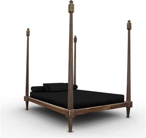 bed with posts fiorenza four post bed eclectic beds new york by costantini design