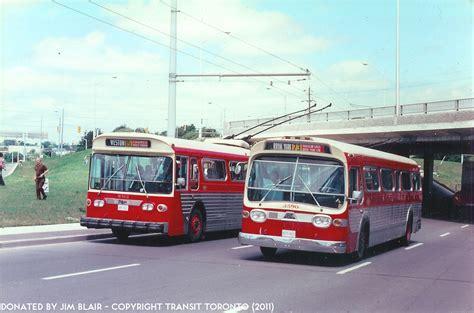 toronto trolleys and buses on ttc trolley