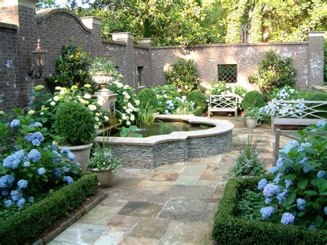 fountain garden design ideas landscape traditional with