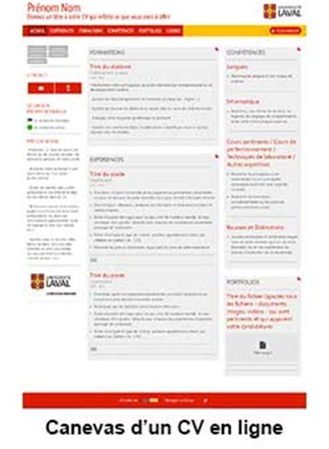 Canevas Cv Word by Cr 233 Ez Votre Cv En Ligne Le Service De Placement De L