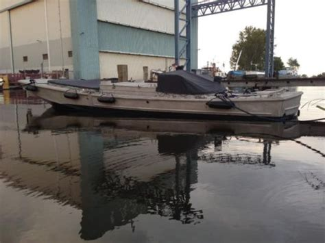 aluminium boot leger bridge erection boat legerboot duwboot sleper aluminium