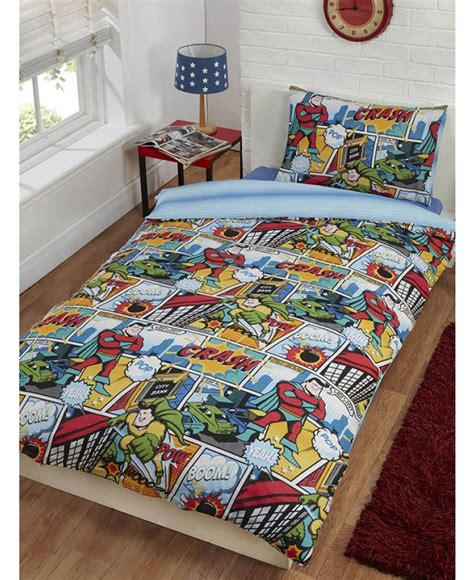 comic strip bedroom comic strip single duvet cover and pillowcase set bedroom