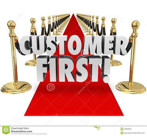 top service customer words carpet top priority client service stock illustration