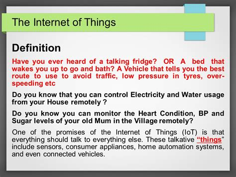 internet definition global benefits internet of things ppt download