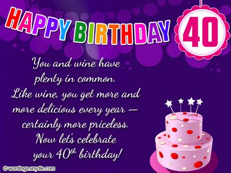 Happy Birthday Wishes For From 40th Birthday Wishes Messages And Card Wordings