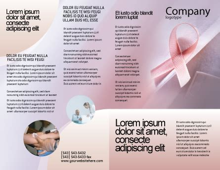 breast cancer brochure template breast cancer awareness brochure template design and