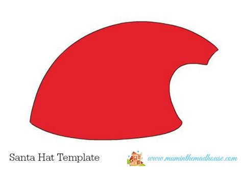 card hats templates santa hat cards 5 minute craft in the