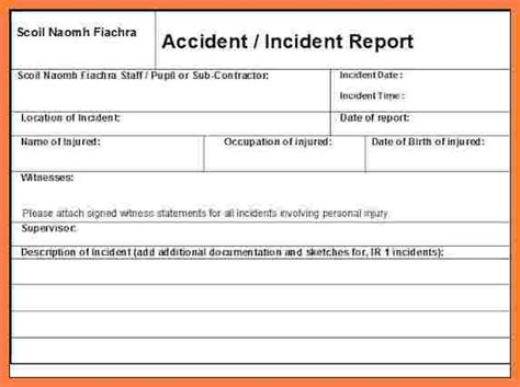 4 construction accident report form template progress