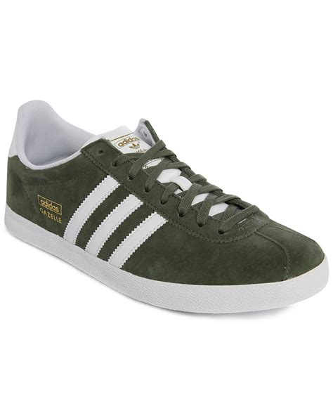 Adidas Gazele Suede adidas originals gazelle khaki suede sneakers in